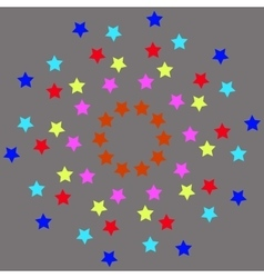 colored stars on gray background-01 vector image