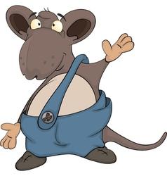 Cute cartoon mouse vector image