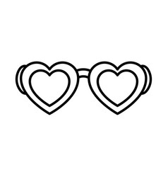 eyeglasses with heart shape vector image