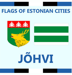 flag of estonian city johvi vector image