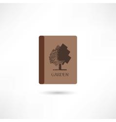 Garden book vector