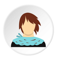 Girl with short hair icon circle vector