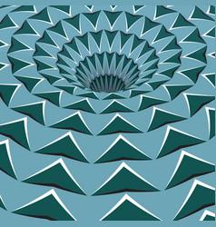 Green arrows hole optical motion vector