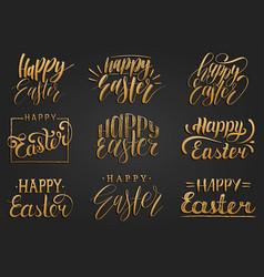 happy easter handwritten lettering setreligious vector image vector image