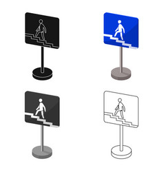 information road signs icon in cartoon style vector image vector image