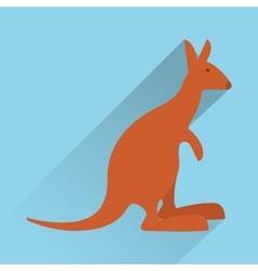 Kangaroo emblem image icon image vector