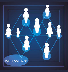 Network globe social connections with date vector