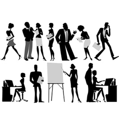 Office workers vector
