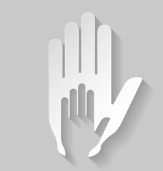 Paper helping hand vector image vector image