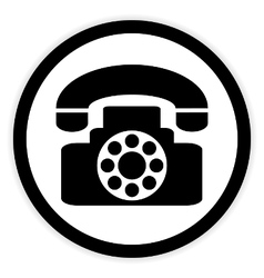 Phone button on white vector image