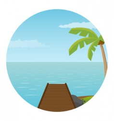 pier on island vector image