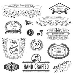 Retro Labels For Calligraphic Designs vector image vector image