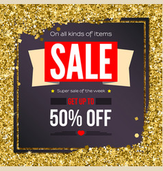 Sale vintage text banner ready to print and use vector