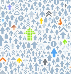 Seamless background of different arrows vector image vector image