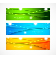 Set of banners with wavy lines vector image vector image