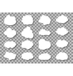Set of different Cloud on transparent background vector image