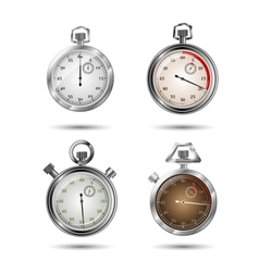Set of stopwatches vector image vector image