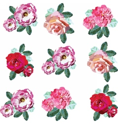 Spring summer flowers set vector