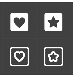 Star and Heart icons vector image vector image