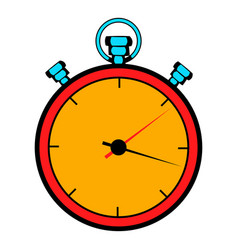 Stopwatch icon cartoon vector