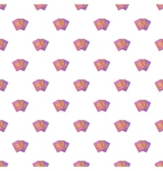 Three passports pattern cartoon style vector image vector image