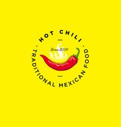 Traditional mexican food emblem vector