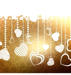 Valentine card with copy space EPS 8 vector image vector image
