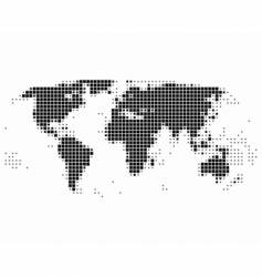 world map in squares vector image vector image
