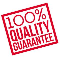 100 percent quality guarantee typographic stamp vector