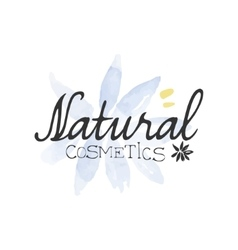 Natural cosmetics beauty promo sign vector