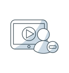 media player device electronic vector image