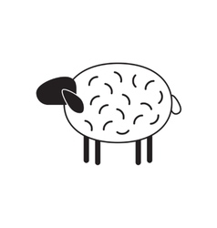 Sheep icon isolated vector