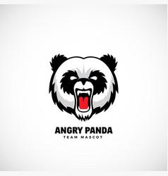 angry panda abstract team mascot label or vector image