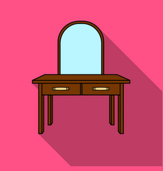 dressing table icon in flat style isolated on vector image