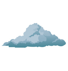 Cloud climate weather cold shadow vector