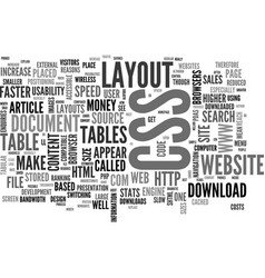 Why a css website layout will make you money text vector