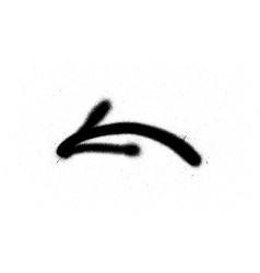 Graffiti spray arrow sign in black over white vector