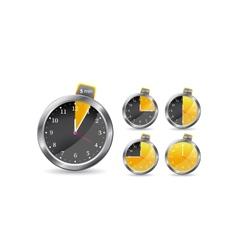 black timer clock vector image