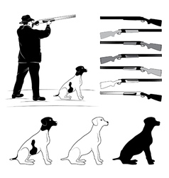 Set of for hunters vector