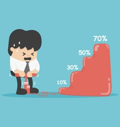Business concept boost the share of difficulties vector