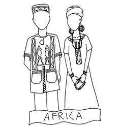 National costume for africa vector