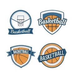 Set of basketball vintage design labels vector
