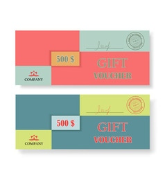 Two original vouchers on a white background vector