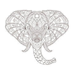 Elephant ethnic patterned vector