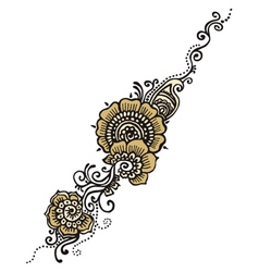 Henna indian paisley vector