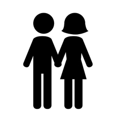 Couple in relationship pictogram design vector