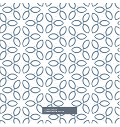 Cute line flower pattern background vector