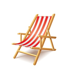 deck chair isolated vector image