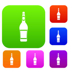design bottle set color collection vector image vector image