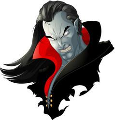 Evil vampire picture vector